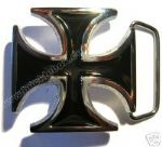 MALTESE / IRON CROSS Belt Buckle + display stand. Code HK4